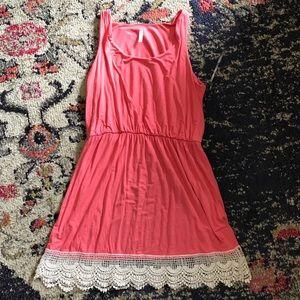 pink blush maternity top size L